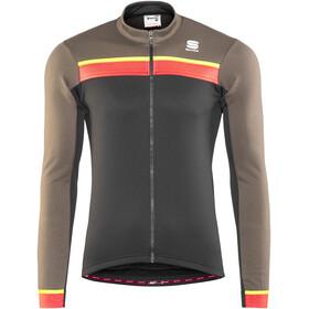 Sportful Pista Thermal Miehet Pyöräilypaita pitkähihainen , harmaa/musta